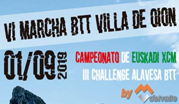 VI Marcha BTT Villa de Oion-Cto Euskadi XCM 2019