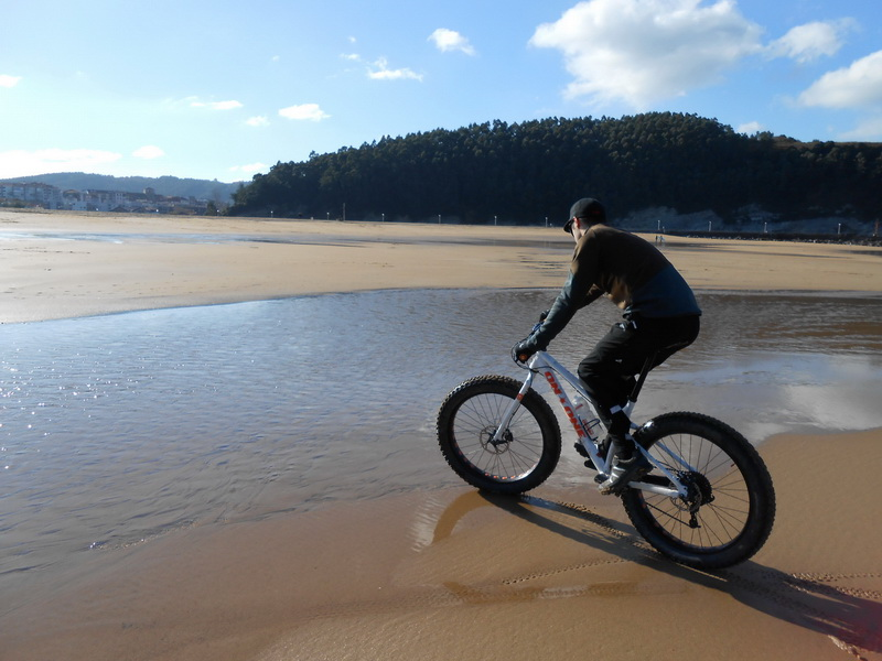Fatbike on the beach